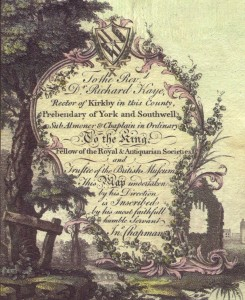 The Cartouche on Chapman's Map of 1774 (Image courtesy of Nottingham Local Studies Library)