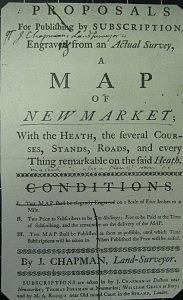 Chapman's Proposal for a Map of Newmarket c.1767 (Image courtesy of Essex Record Office)