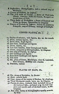 Christie's Auction Catalogue, 14th December 1784 (Image courtesy of Essex Record Office)