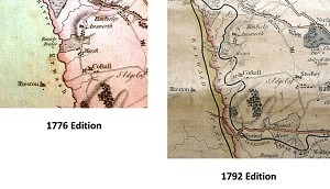 Erewash & Nottingham Canals 1776 & 1792 Editions (Images courtesy of Nottingham Local Studies Library and the Manuscripts and Special Collections, The University of Nottingham - Not1.B8.D92)