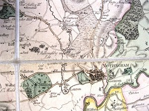 Illustrating the dissection of Map(76)1 (Image courtesy of Nottingham Local Studies Library)